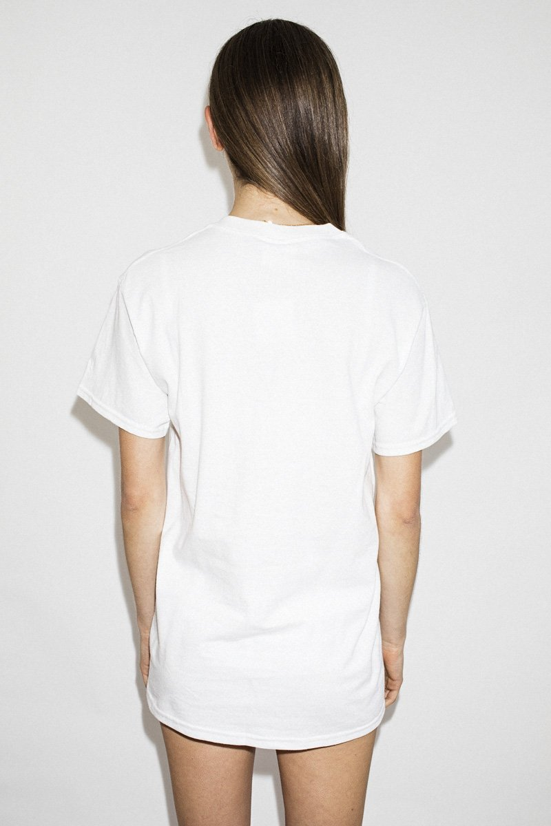 Double Trouble Gang 'Lover' Embroidered T-shirt – White - THENINETYNINE