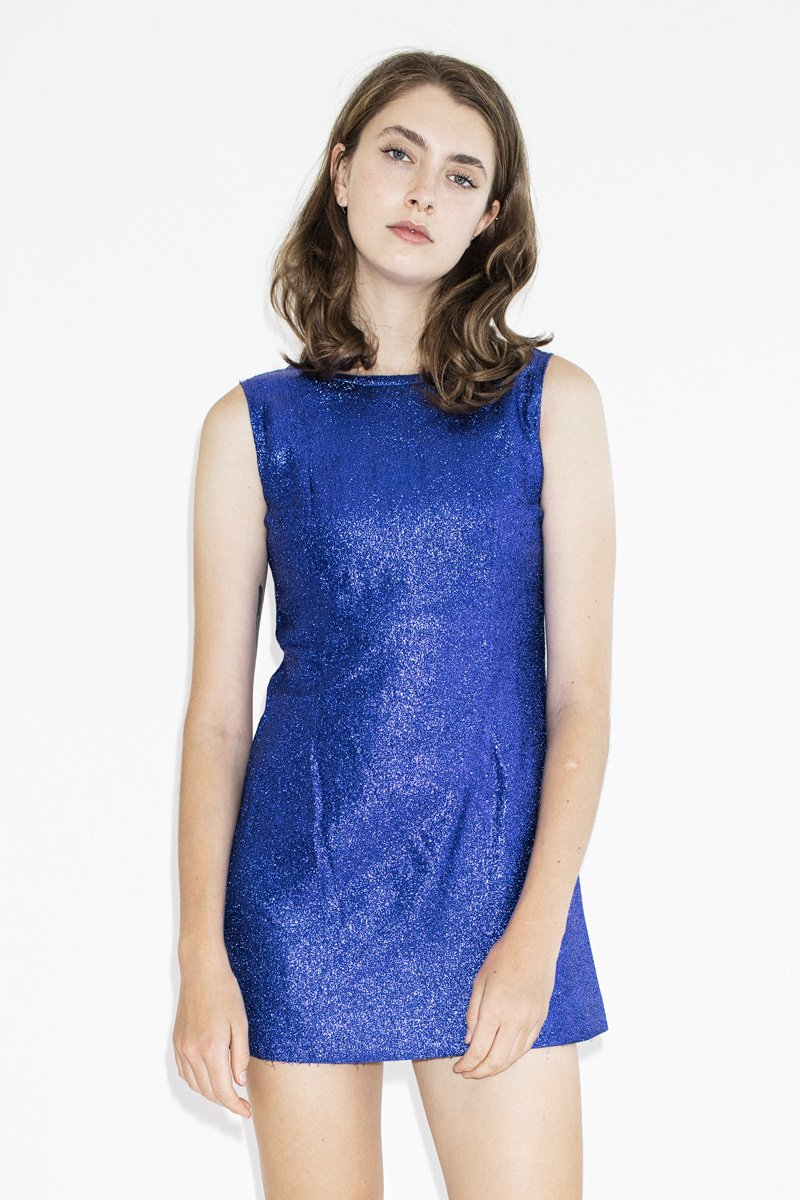 Vintage Electric Blu Minidress – Blue