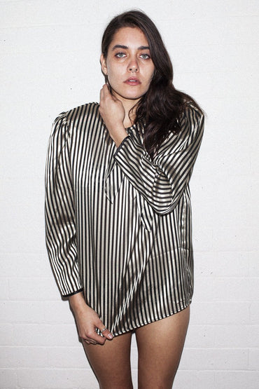 Vintage Gold Stripe Bow Top | THENINETYNINE Online Store