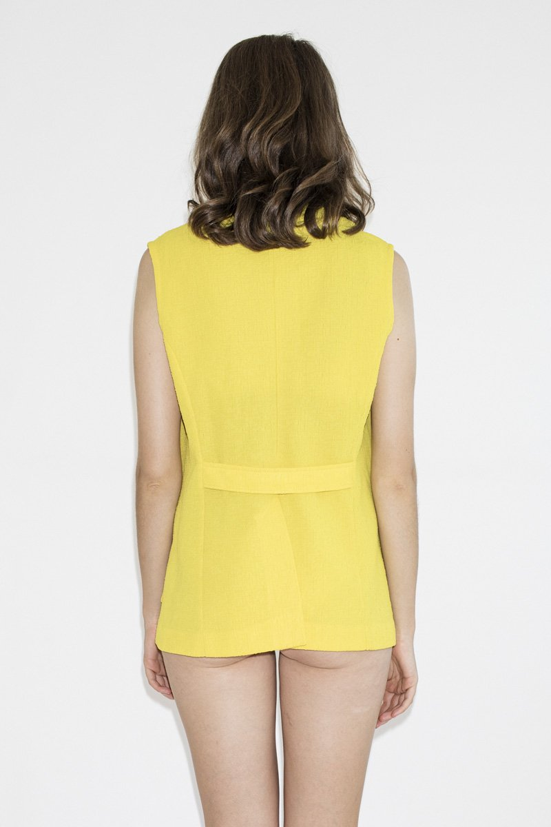 Vintage Banana Bender Vest – Yellow