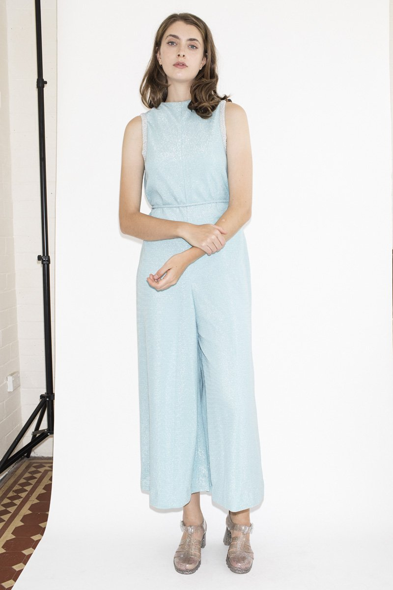 Vintage Ice Princess Jumpsuit – Power Blue