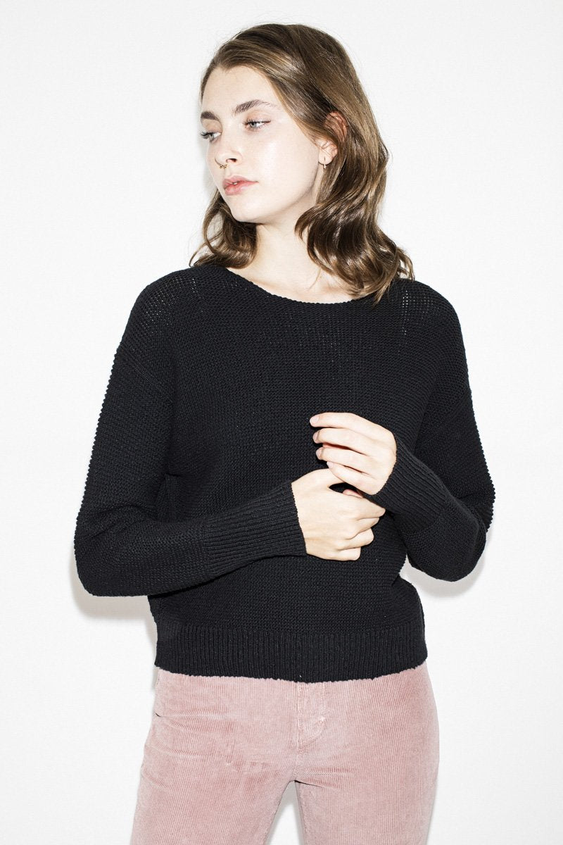 NEUW 'Sofia' Knit Jumper – Black - THENINETYNINE
