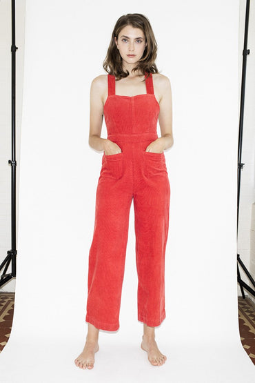 Rolla's Admiral Jumpsuit – Faded Rust - THENINETYNINE