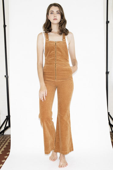 ROLLA'S Eastcoast Flare Overalls – Tan Cord - THENINETYNINE