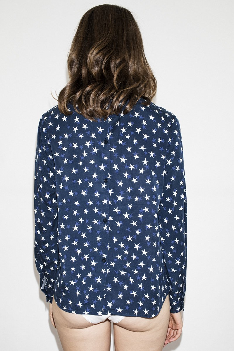 NEUW 'Megan' Blouse – Night Sky - THENINETYNINE