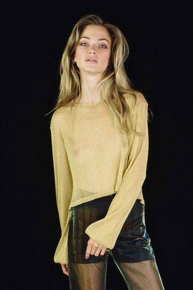 LENNI 'Bendita' Top - Lurex Gold