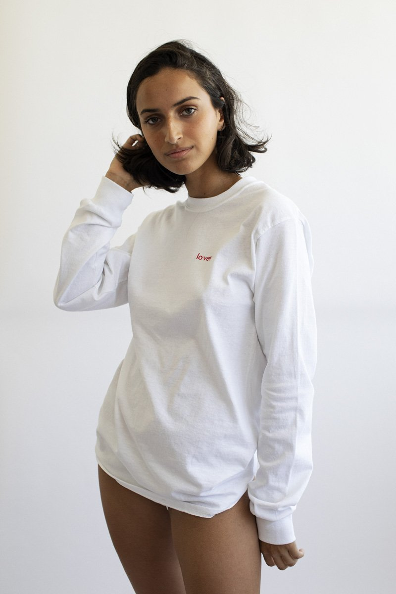 Double Trouble Gang 'Lover' Embroidered Long-Sleeve Top - THENINETYNINE