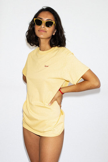 Double Trouble Gang 'Lover' T-shirt – Daisy Yellow - THENINETYNINE