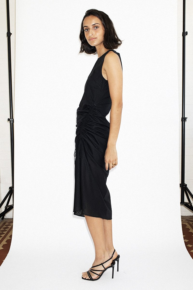 THIRD FORM 'Straight Out' Midi Dress – Black Stripe