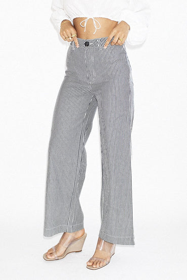 ROLLA'S Old Mate Pants – Navy Pinstripe - THENINETYNINE