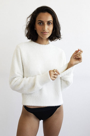 NEUW 'Kate' Knit Jumper – Winter White - THENINETYNINE