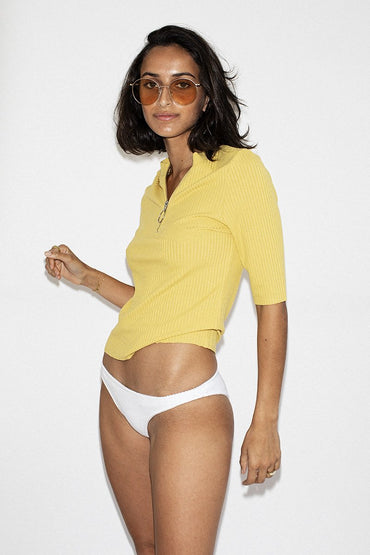 NEUW 'Sienna' Rib Top – Summer Gold - THENINETYNINE