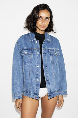 ROLLA'S Slouch Denim Jacket - Esprit Blue - THENINETYNINE