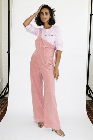 ROLLA'S Cord Admiral Jumpsuit - Soft Pink - THENINETYNINE