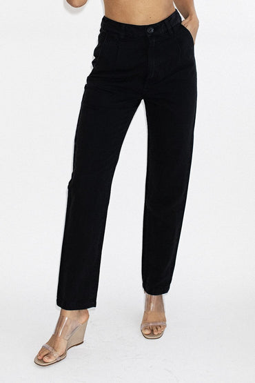 ROLLA'S Horizon Linen Pant – Washed Black - THENINETYNINE
