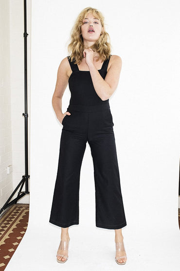 PERMANENT VACATION Wide Leg Jumpsuit – Black - THENINETYNINE