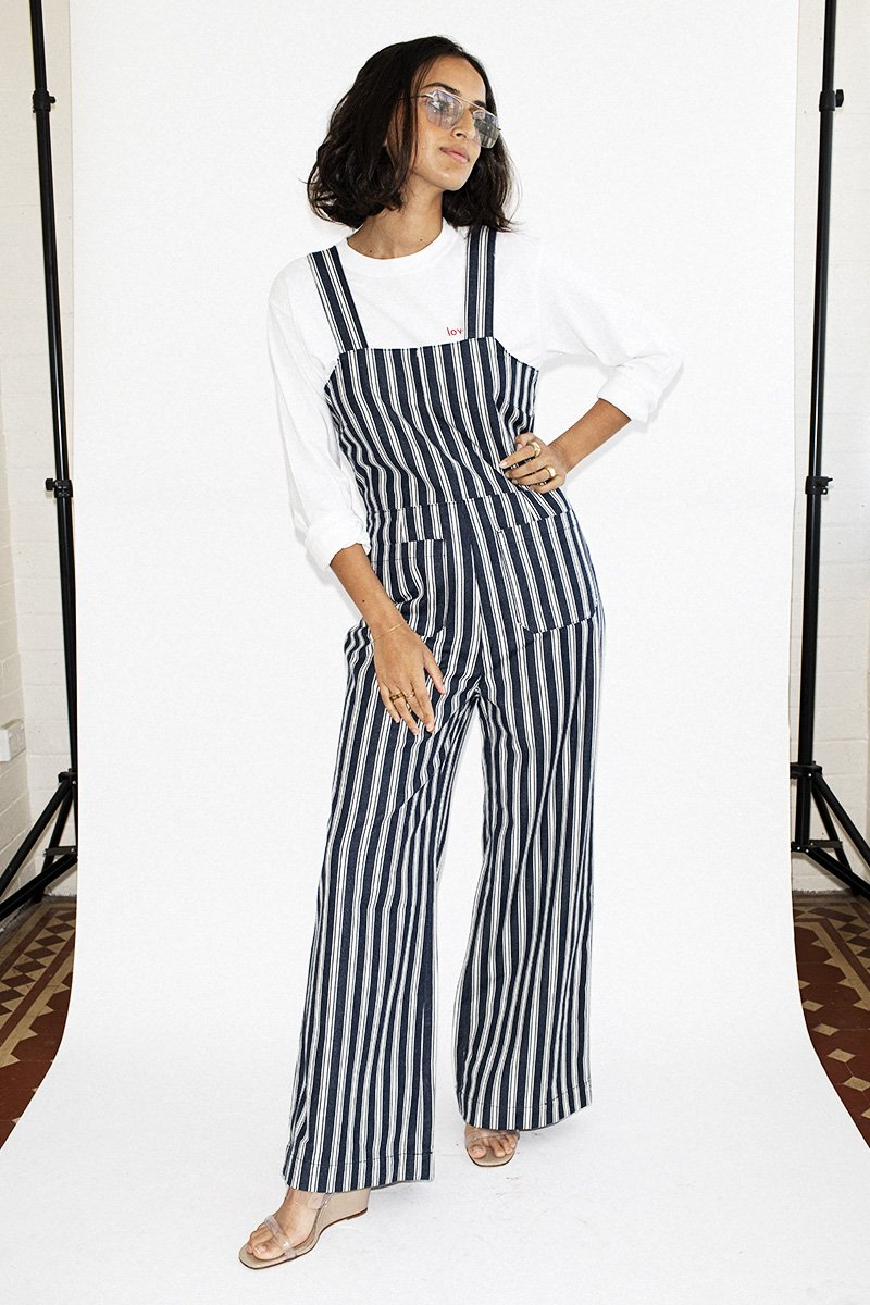 c08e158e9d17 ROLLA S Sailor Jumpsuit Salty Stripe - Navy White – THENINETYNINE