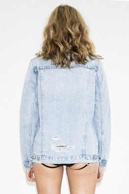 NEUW Maden Denim Jacket – Beaten Blue - THENINETYNINE