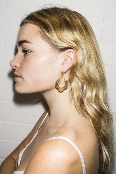 Erika Lipps 'Nothing Is Real' Earrings – Gold