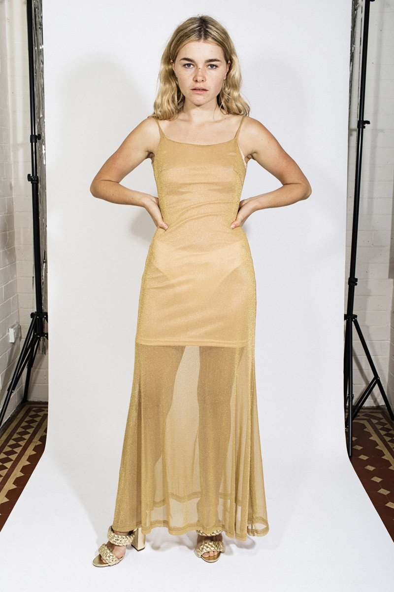 LENNI 'Bendita' Dress - Lurex Gold