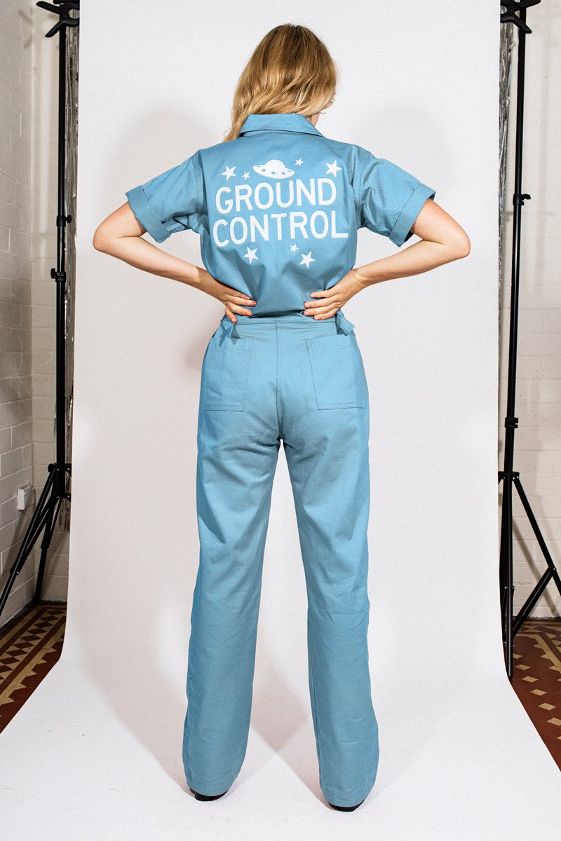 Sugarhigh + Lovestoned 'Ground Control' Coveralls – Baby Blue