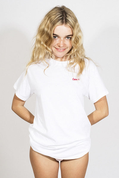 Double Trouble 'Lover' Embroidered T-shirt