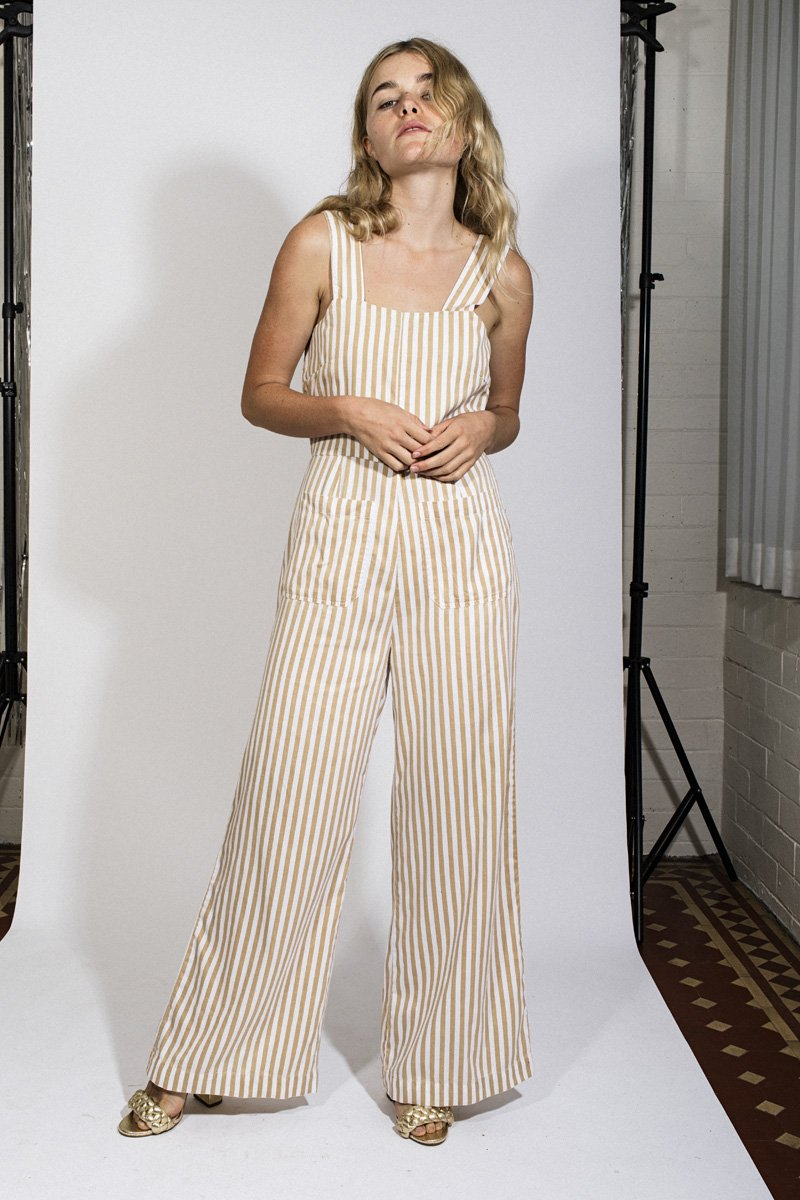 Rolla's Sailor Stripe Jumpsuit – Sandstorm