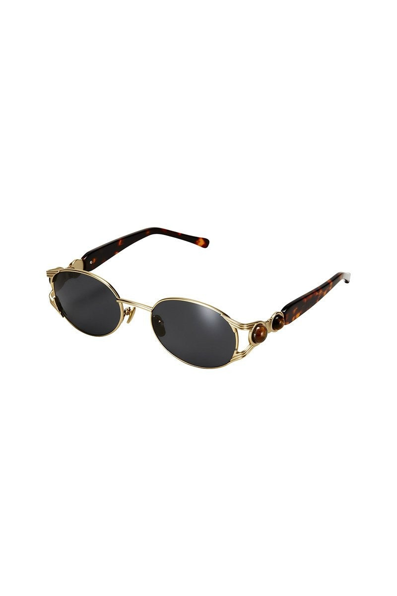 POMS 'Oro' Sunglasses – Tortoiseshell with Tiger Eye - THENINETYNINE