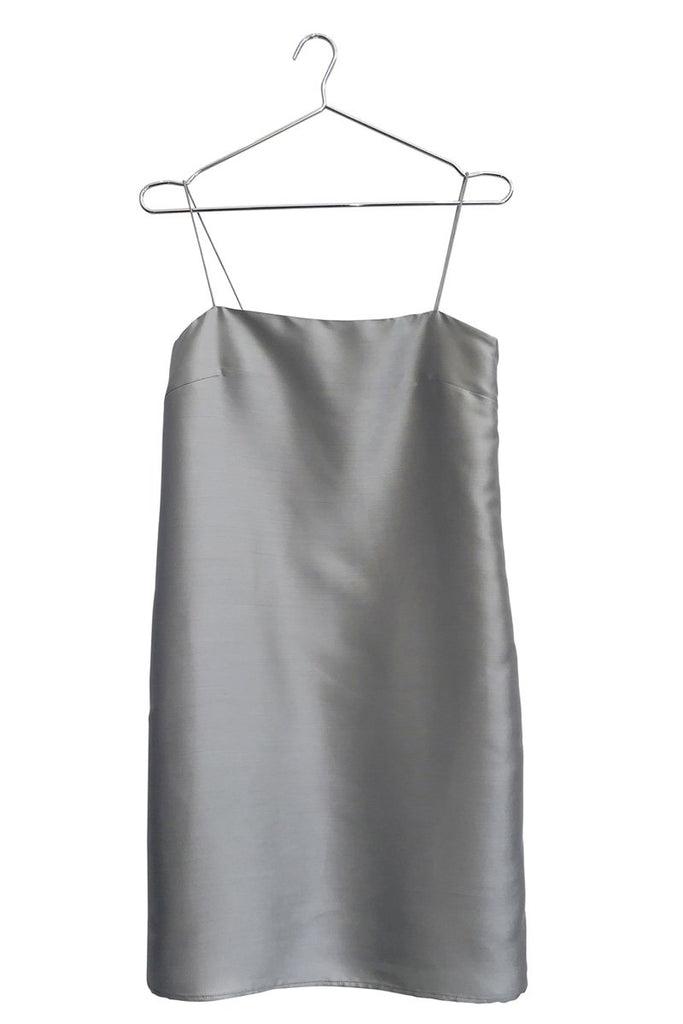 PERMANENT VACATION Simple Silk Dress – Silver | THENINETYNINE Online Store