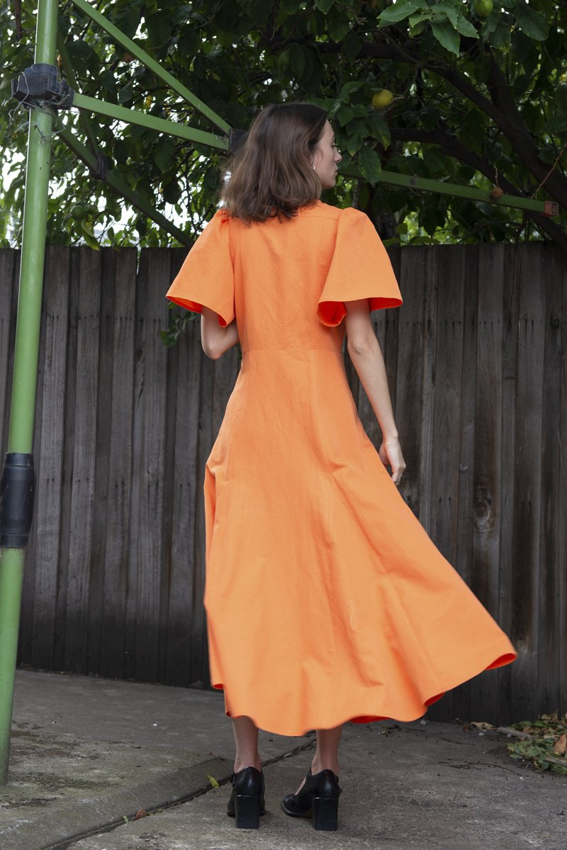 PERMANENT VACATION 'Transference' Maxi Dress – Orange - THENINETYNINE