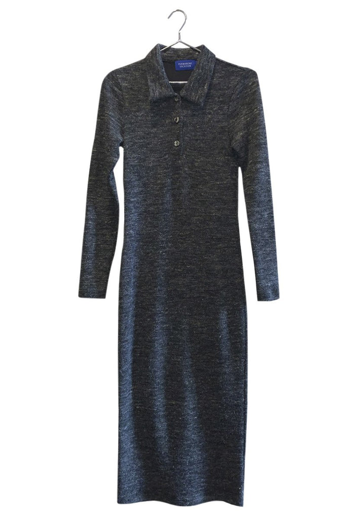 PERMANENT VACATION Article Knit Dress – Charcoal Marle | THENINETYNINE Online Store