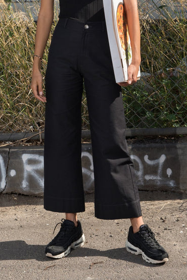 PERMANENT VACATION 'Baggy' Wide Leg Pant – Black - THENINETYNINE