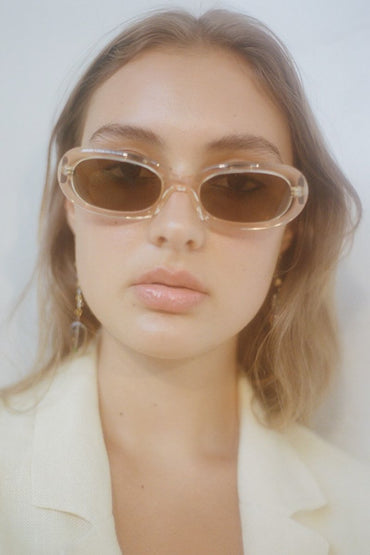 POMS 'Retta' Sunglasses – Peach with Moonstone - THENINETYNINE