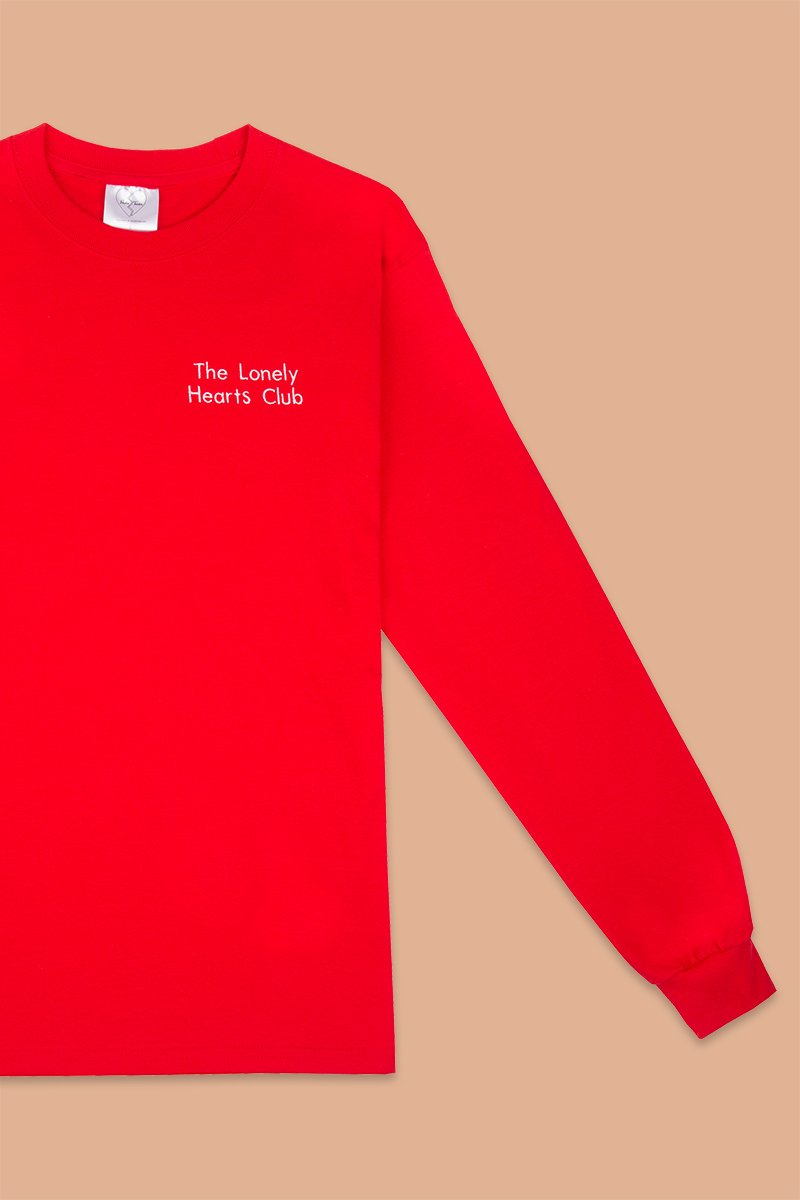 Double Trouble Gang 'Lonely Hearts Club' Embroidered Long-Sleeve Top - THENINETYNINE