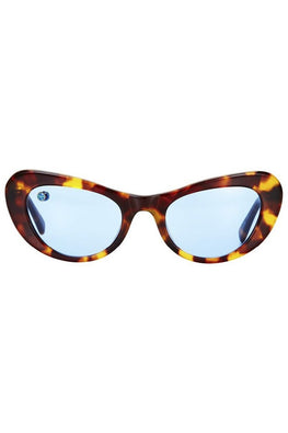 POMS 'Nuovo' Sunglasses – Tortoiseshell and Blue with Blue Opal - THENINETYNINE