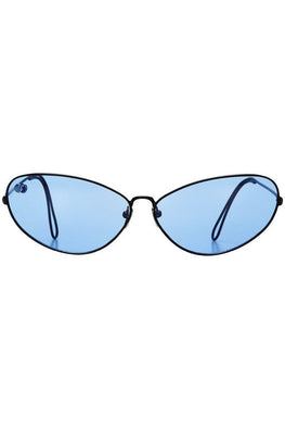 POMS 'Ello' Sunglasses – Black and Blue with Blue Opal - THENINETYNINE