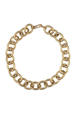 POMS 'Grosso' Choker Necklace – 18kt Gold Vermeil - THENINETYNINE