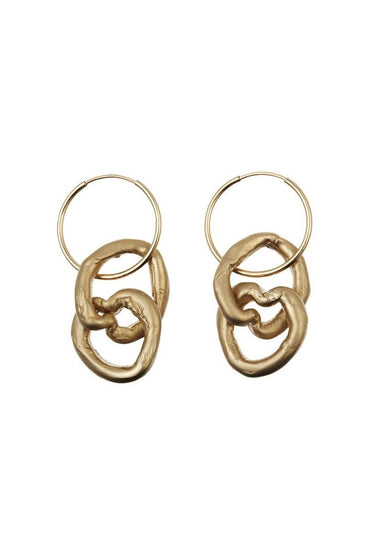 POMS x Brendan Huntley Earrings – 18kt Gold Vermeil - THENINETYNINE
