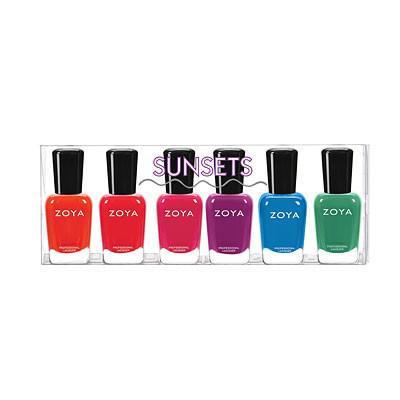 sunsets full collection set - zoya - nail polish