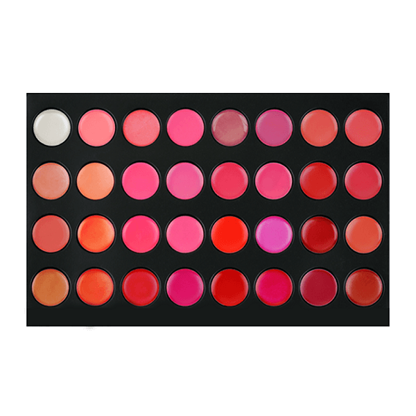 32lip 32 color lipstick palette - crown brush - lipstick