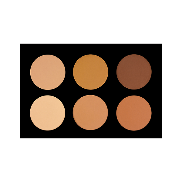 6ppf 6 color pressed powder foundation - crown brush - foundation