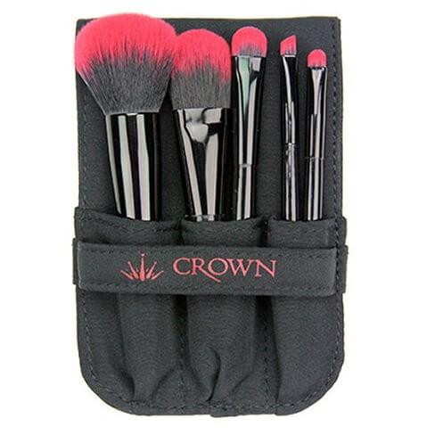 700R - 5 Piece Essentials Set Red - crown brush - makeup brushes