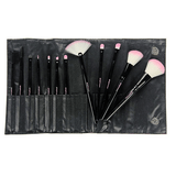 CBP1 - 10 Piece Pc Pink Vegan Set - crown brush - makeup brushes