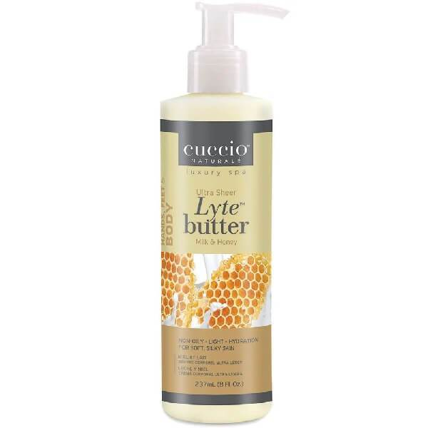 Cuccio Lyte Ultra-Sheer Body Butter Honey & Soy Milk 8 oz.