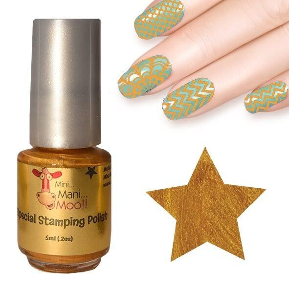 Nail Art Polish 5ml Gold - mini mani moo - nail art