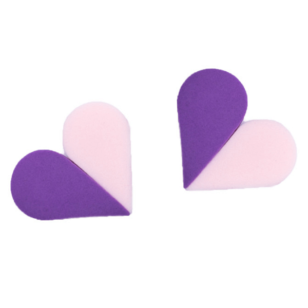 petal perfect sponges pink and purple - the creme shop - makeup sponges
