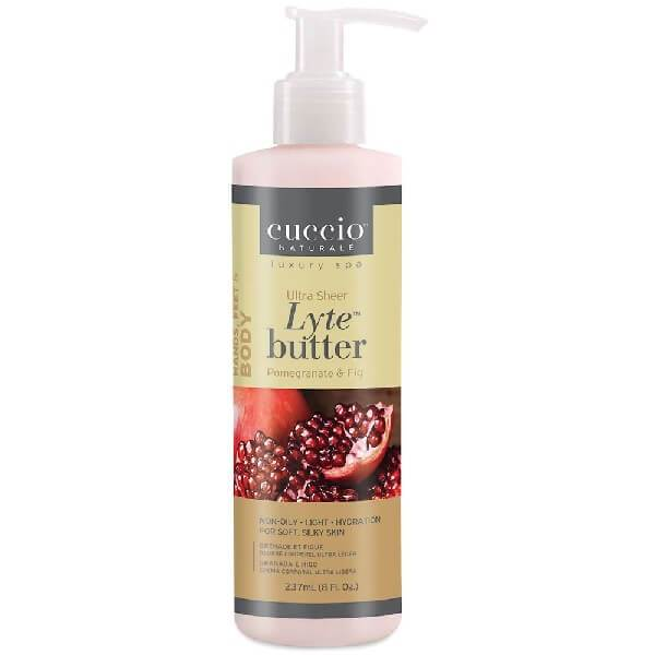 Cuccio Lyte Pomegranate and Fig Ultra Sheer Body Butter Natural
