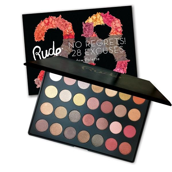 Rude Cosmetics No Regrets! 28 Excuses Eyeshadow Palette - Leo Shimmer