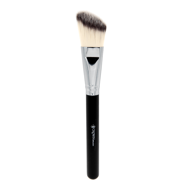 SS002 Deluxe Angle Foundation Brush - crown brush - makeup brushes