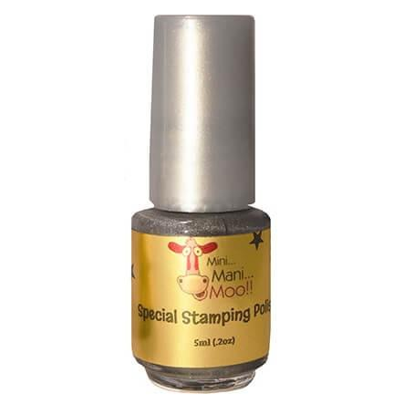 Nail Art Polish 5ml Silver - mini mani moo - nail art